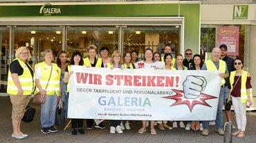 Kaufhof Mannheim N7 Kunststrasse streikt gegen Tarifflucht und Personalabbau