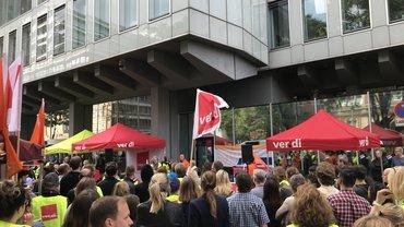 WDR Warnstreik Kundgebung