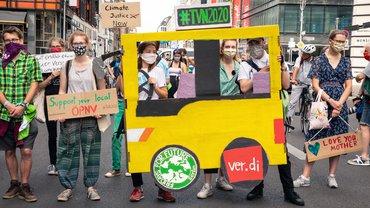 Mehr öffentlicher Personennahverkehr ist besser fürs Klima – bundesweiter Aktionstag von Friday For Future und ver.di am 22. Juli 2020