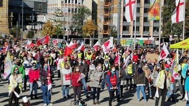 Warnstreik am 14.10.2020 in Freiburg