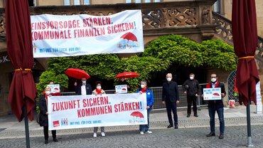 Aktion zur Stärkung der Kommunalfinanzen in Heilbronn