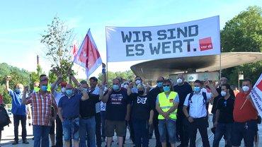 Warnstreiks beim privaten Omnibusgewerb, 16. und 17. 6. bei den Betrieben Friedrich-Müller-Omnibus GmbH, Stadtbus Schwäbisch-Hall und Omnibusverkehr Ruoff (Standorte Neuenstadt und Güglingen).